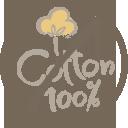 100% cotton free