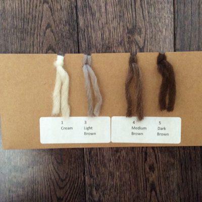 organic wool sample card
