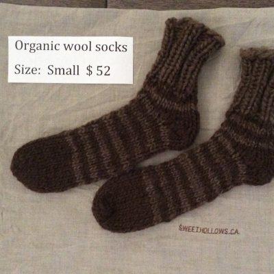 Organic dark stripe socks