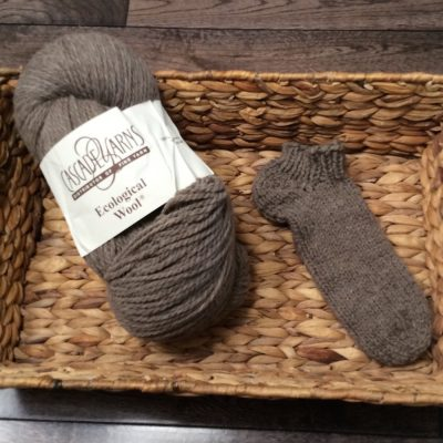 Pragmatic ecological wool anklet sock