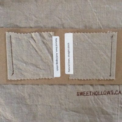 2 fabric swatches of linen