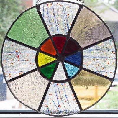Charkra circle stained glass