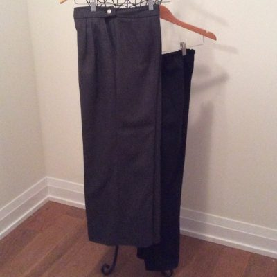 Wide and narrow leg pants
