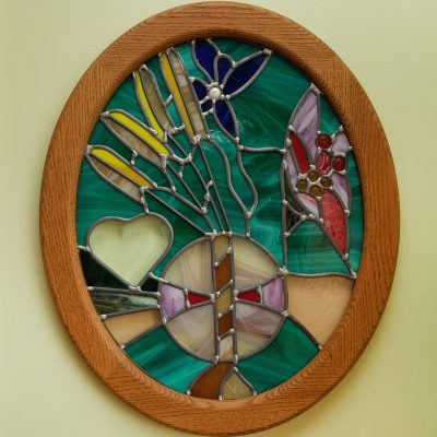Open heart stained glass